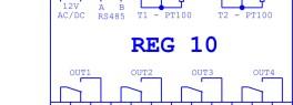 DCK regulace teploty se signalizací požadovaného pásma